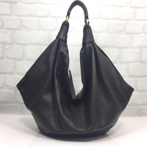 Чанта Еврика черна от естествена кожа - EvrikaShop