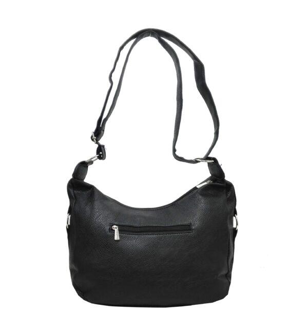 Спортно-елегантна чанта Еврика в черно - EvrikaShop