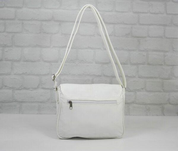 Чанта Еврика 10224 бяла промазка