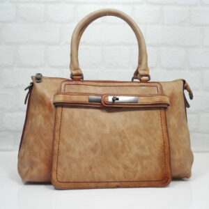 Дамска чанта Еврика бежовa, произведена в България - EvrikaShop