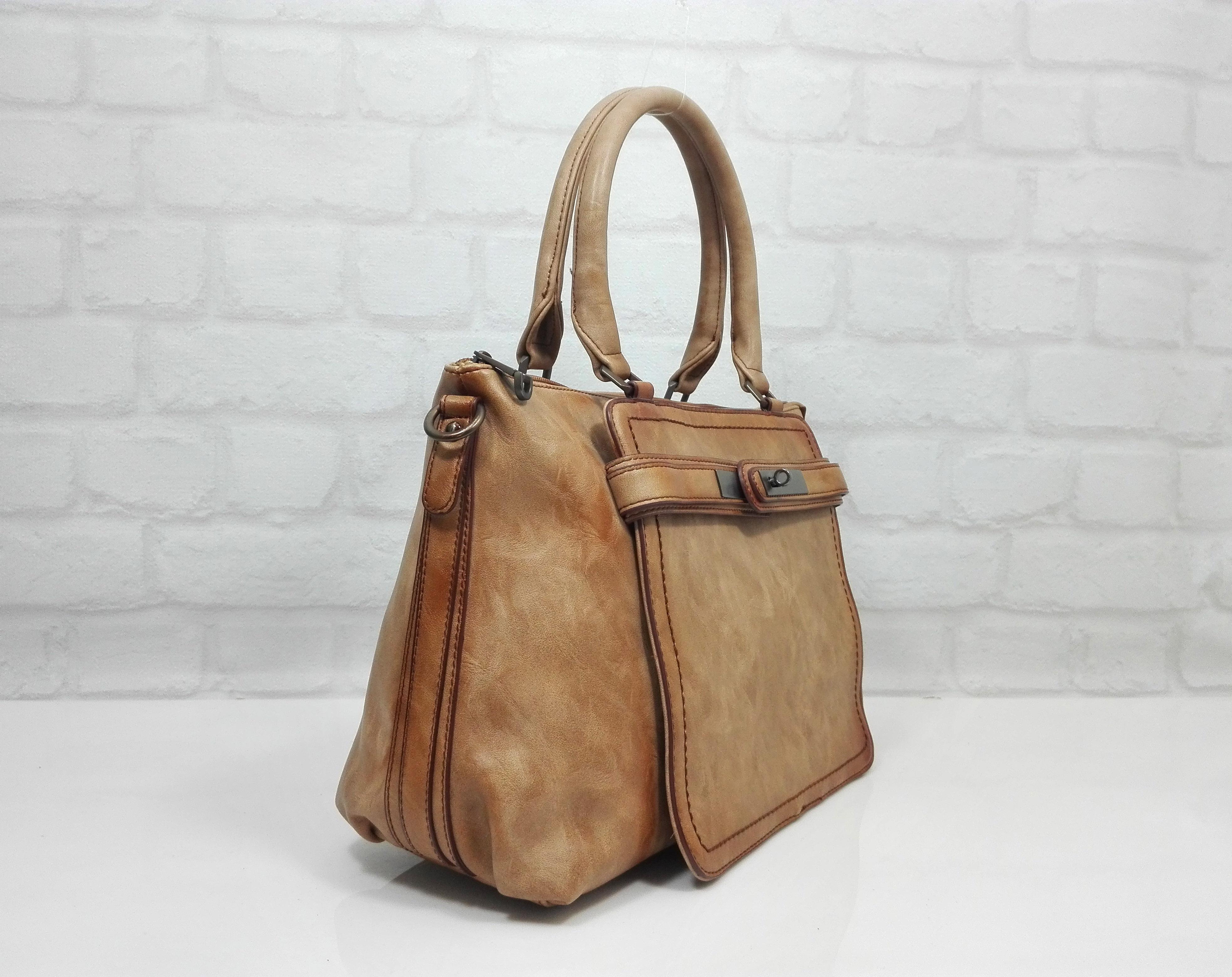 Дамска чанта Еврика бежов меланж 99372 - EvrikaShop