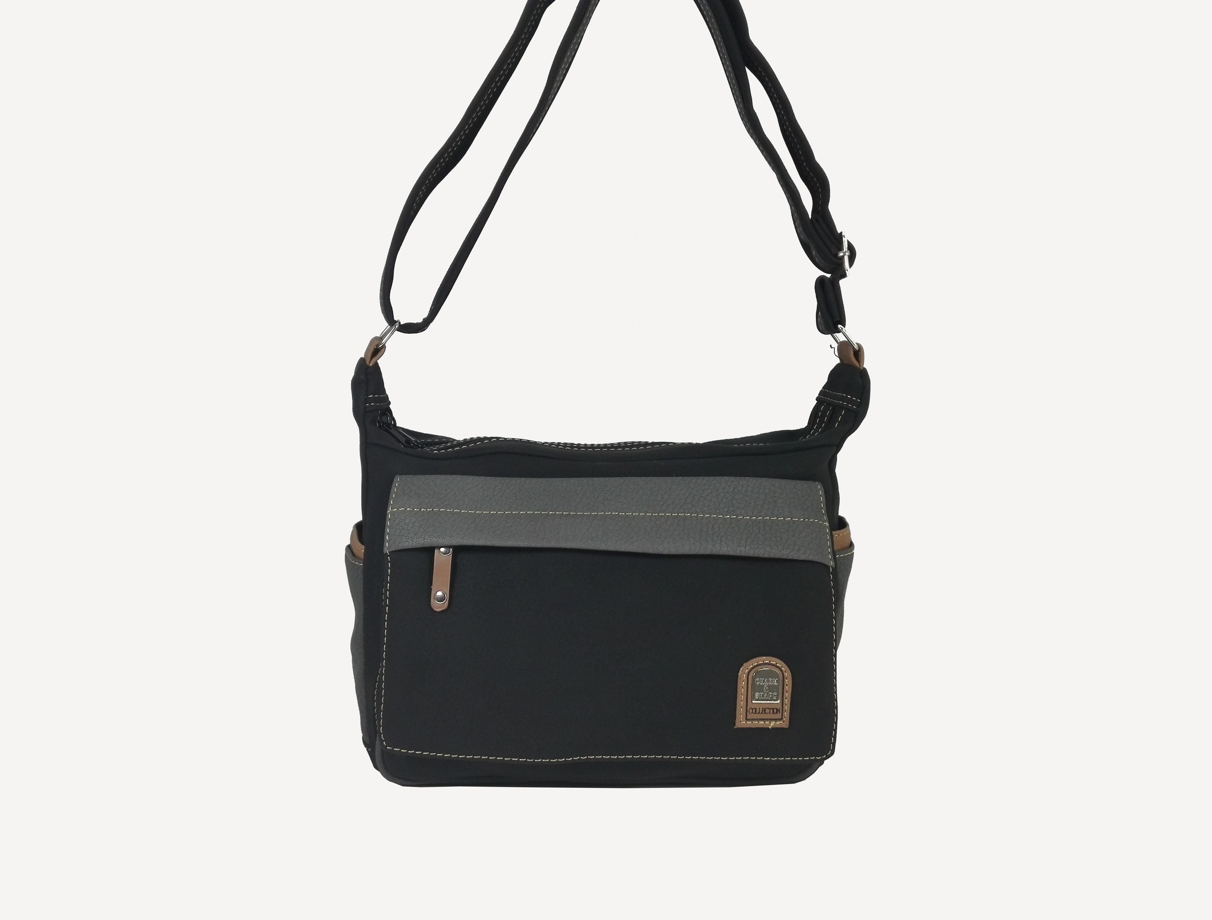 Чанта Еврика 56196С черно със сиво