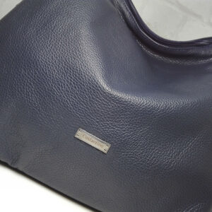 Чанта Еврика 10907S естествена кожа синя