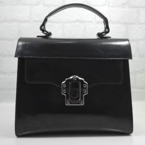 Чанта Еврика 10911-1Б кожа бордо малка