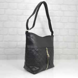 Спортно-елегантна чанта в черно Еврика- EvrikaShop