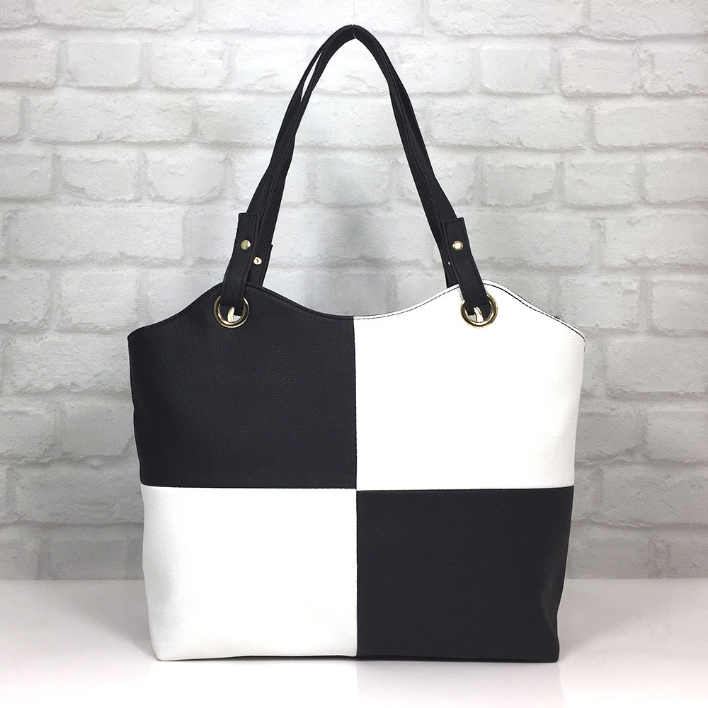 b1d3ec7e06a Чанта Еврика 64-107НБ черно с бяло - EvrikaShop - Онлайн магазин за дамски  чанти и аксесоари