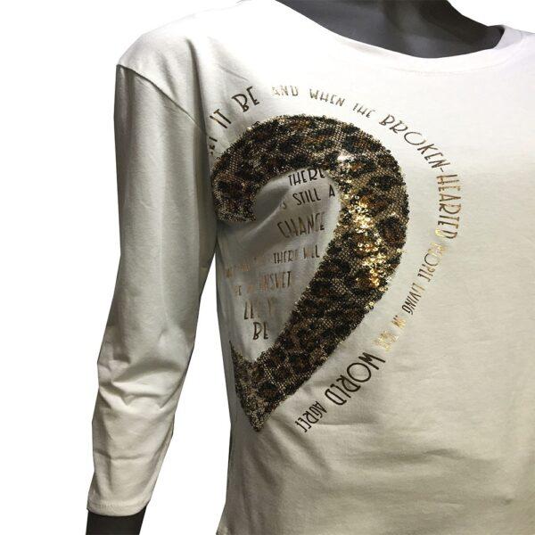 Дамски блуза бяла с надпис EvrikaShop ®