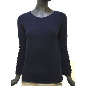 Дамска блуза Д1368 черна с бордо