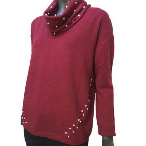 Дамска плетена рокля комплект с шал Д64220030R бледо розова