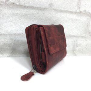 Дамско портмоне естествена кожа GAP 13133 червено състарено