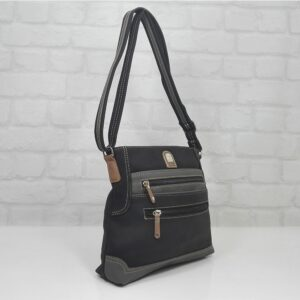 Чанта Еврика 56211НС черно със сиво