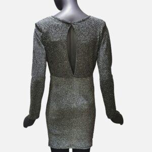 Дамска рокля сива лъскава от Италия - EvrikaShop