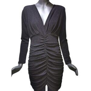 Дамска рокля черна къса от Италия - EvrikaShop