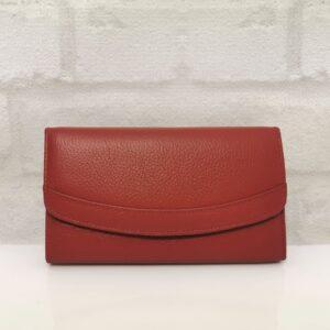 Дамско портмоне естествена кожа 016СН червено голямо