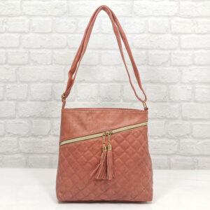 Спортно-елегантна дамска чанта Еврика корал - EvrikaShop
