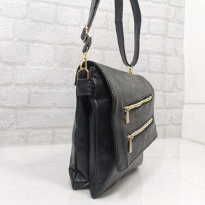 Спортно-елегантна дамска чанта в черно - EvrikaShop®