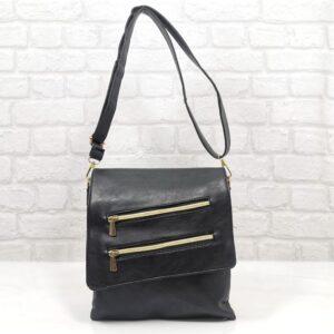 Спортно-елегантна дамска чанта в черно - EvrikaShop