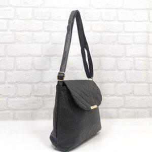 Спортно-елегантна дамска чанта Еврика в черно - EvrikaShop ®