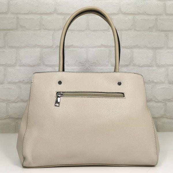 Италианска чанта Мария цвят екрю - EvrikaShop