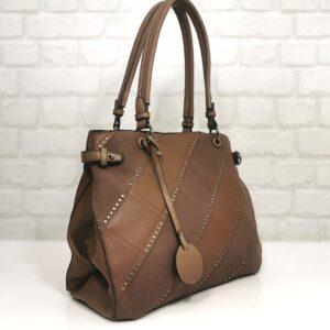Кафява елегантна чанта от Италия EvrikaShop