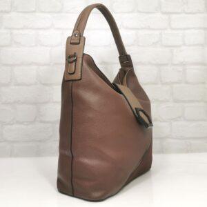 Кафява дамска чанта от Италия