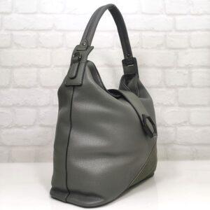 Сива дамска чанта от Италия EvrikaShop