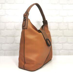 Италианска дамска чанта цвят брик EvrikaShop