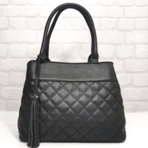 Стилна дамска чанта Еврика в черно - EvrikaShop