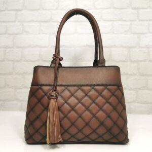 Италианска дамска чанта брик EvrikaShop