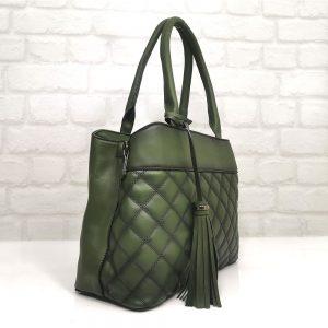 Зелена дамска чанта EvrikaShop