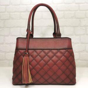 Италианска чанта цвят бордо EvrikaShop