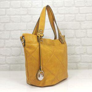 Стилна чанта Мария в есенно жълто - EvrikaShop
