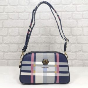 Чанта Silver Polo в синьо с цветове SP745ТС - EvrikaShop ®