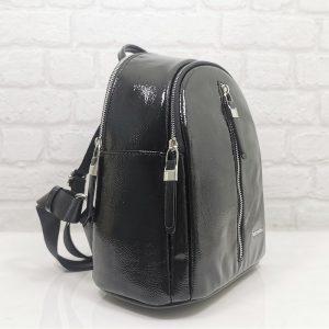 Дамска раничка Silver Polo SP901Н черна лак - EvrikaShop ®