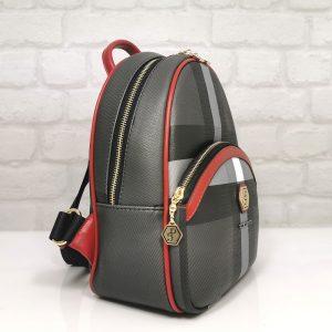 Дамска раничка Silver Polo SP954Н черна с червено - EvrikaShop ®