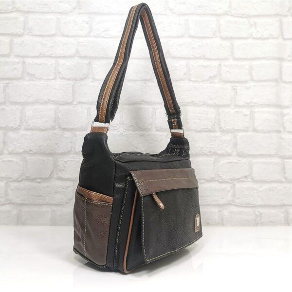 Удобна дамска чанта Еврика в кафяво - EvrikaShop