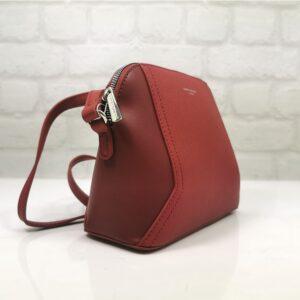 Малка дамска чанта David в червено - EvrikaShop