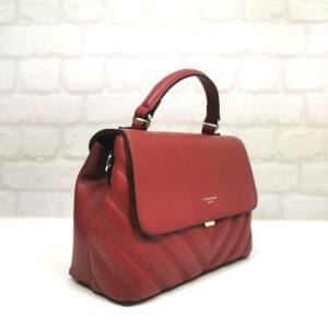 Средно голяма чанта David Jones в червено - EvrikaShop