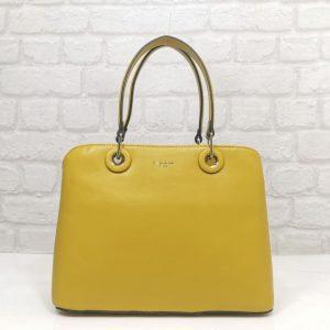 Дамска чанта David Jones в жълтo, средно голяма - EvrikaShop