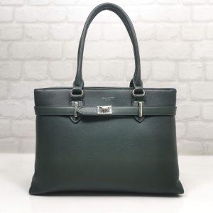 Дамска чанта David Jones в маслено зелен цвят - EvrikaShop