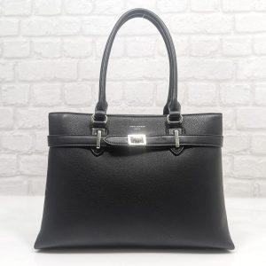 Дамска маркова чанта David Jones в черно- EvrikaShop