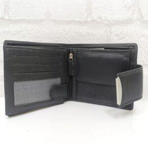 Черно дамско портмоне от естествена кожа - EvrikaShop