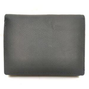 Дамско изчистено портмоне от естествена кожа в черно - EvrikaShop