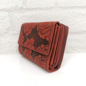 Дамско портмоне естествена кожа, червено - EvrikaShop