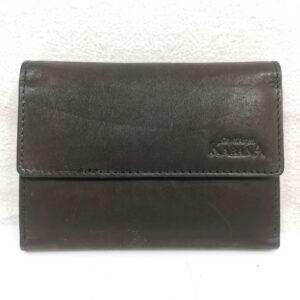 Дамско портмоне естествена кожа в черно - EvrikaShop