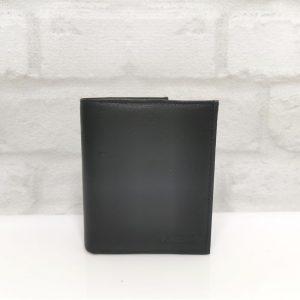 Вертикален мъжки портфейл от естествена кожа в черно - EvrikaShop