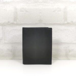 Вертикален мъжки портфейл естествена кожа черен - EvrikaShop