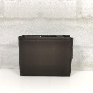 Тъмно кафяв мъжки портфейл от естествена кожа - EvrikaShop