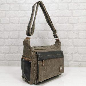 Дамска чанта Еврика кафява с черно - EvrikaShop