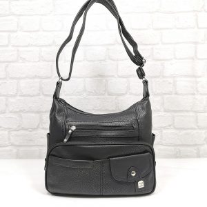 Дамска чанта Еврика в черен цвят - EvrikaShop